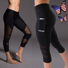 FITTOO Women High Waist Fitness Yoga Sport Cropped Pants Running Capri Legging