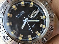 Vintage Bulova Snorkel Day-Date Divers Watch w/Mint Dial,Screwdown Crown,All SS