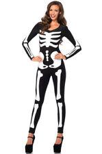 Skeleton Catsuit Spandex Printed Glow in the Dark Bodysuit MEDIUM Costume 85346