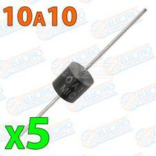 Diodo rectificador 10A10 10A 1000v - Lote 5 unidades - Arduino Electronica DIY