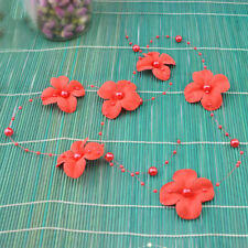 DIY Fishing Line Artificial Pearl Flower Beads Chain Garland Wedding Party Decor