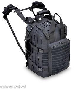 Black Deluxe Mini Hospital Military Medic Backpack Survival Emergency Kit Bag