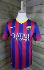 Nike BARCELLONA NEYMAR 11 Home 2013-14 Qatar Airways SHIRT FOOTBALL JERSEY Sz S