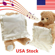 US Peek A Boo Teddy Bear Toddler Kids Children Child Play Soft Toy Plush Blanket