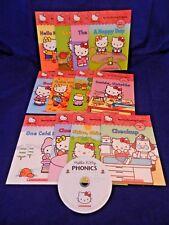 HELLO KITTY PHONICS 12 Book w/ CD Reading Program, LN, Quinlan Lee, Sachiho Hino