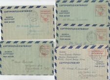 GERMANY WW II HUNGARIAN REFUGEE CAMP CORRESPONDENCE / AIRLETTERS TO U.S. 1951