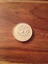 £ 1 Una Sterlina Moneta Ni Floreale Lino & Shamrock Emblema 2014 (circolata)