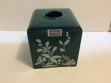 Croscill Tranquility Tissue Box Cover Teal Green Floral (matches shower curtain)