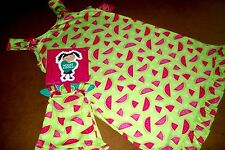 WHAT A DOLL WATERMELLON GOWN PAJAMA & matching set for AMERICAN GIRL DOLL 7/8