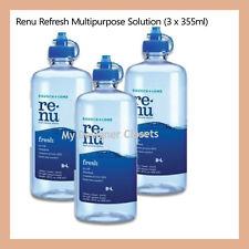 3x Renu Refresh Multi Purpose Solution 355mL Contact Lens MDC