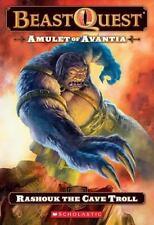 Beast Quest #21: Amulet of Avantia: Rashouk the Cave Troll-ExLibrary
