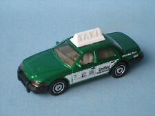 Matchbox Crown Victoria Green Cab New York Style Taxi Toy Model Car 75mm in BP
