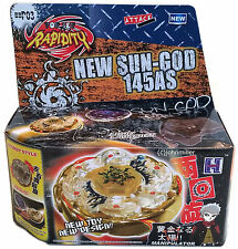 GOLD Sol Blaze Ultimate Beyblade Set NIP w/ BeyLauncher L-R STRING LAUNCHER!