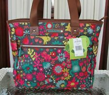 Lily Bloom Travel Tote Playful Garden Cats Luggage Large Overnight Bag ECO NWT