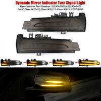 Paar LED Dynamische Laufblinker Spiegel für Benz W204 W212 W221 Seitenblinker
