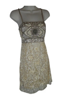 Sue Wong Nocturne 4 dress embellished beaded textured designer EUC
