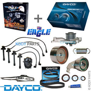 TIMING BELT KIT, WATER PUMP & IGNITION LEADS - for Toyota Camry 2.0L 3SFC 3SFE