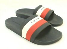 NWT TOMMY HILFIGER Earthy Size 12 M Dark Blue Men's Comfort Slides RETAIL $40