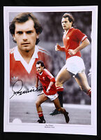 New Ray Wilkins Manchester United  Signed 12x16 Football Montage
