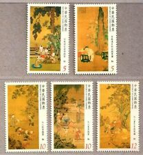 China Taiwan 2014 Ancient Chinese Paintings Children at Play Stamps Painting Art