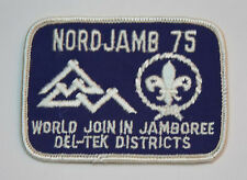 1975 World Scout Jamboree USA BOY SCOUTS OF AMERICA BSA Del-Tek Contingent Patch