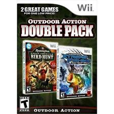 Outdoor Action Double Pack Wii Remington Bird Hunt Shimano Xtreme Fishing New