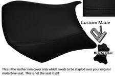 BLACK STITCH CUSTOM FITS KAWASAKI NINJA ZX6R 05-06 600 FRONT LEATHER SEAT COVER
