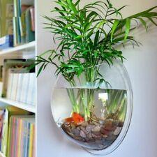 Mount Fish Tank Wall Hanging Bowl Planter Decoration Acrylic Aquarium Supplies