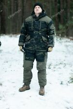 Rus army winter suit gorka 5 Multicam black for special forces for extreme cold