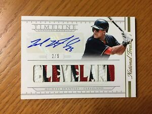 Michael Brantley 2015 National Treasures Timeline Signature Materials Auto /5
