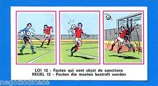 FOOTBALL 1976 BELGIO -Panini Figurina-Sticker n. 415 - LOI / REGEL 12 -Rec
