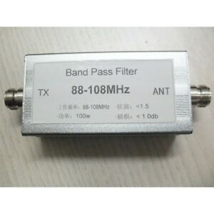 Band Pass Filter 88-108MHz Bandpass Filter Anti-Interference High Receiving tpys