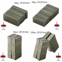 10Pcs N52 New Neodymium Block Magnet 20x10x2mm Super Strong Rare-Earth Magnets