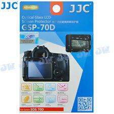 JJC HD Optical Tempered Glass LCD Screen Protector Film for Canon EOS 70D 80D