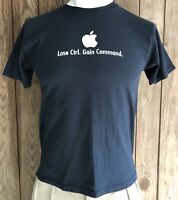 Apple Men's Large Tshirt Black Short Sleeve Cotton Lose Ctrl Gain Command Mac