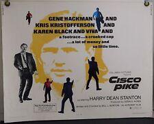 CISCO PIKE ROLLED ORIG HALF-SHEET MOVIE POSTER KAREN BLACK GENE HACKMAN (1972)