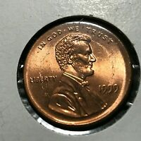 1999 LINCOLN PENNY  BROADSTRUCK ERROR COIN BRILLIANT UNCIRCULATED