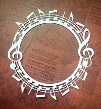 Music Circle Frame Die Cuts - White - Pack Of 5