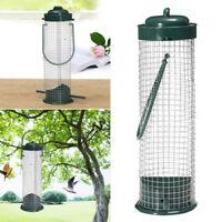 Iron Wire Hanging Bird Samen Feeder Container Kleiderbügel Barsch Fütterung