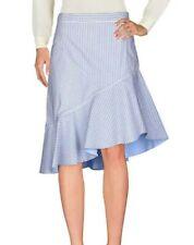 New Skirt by Paul & Joe blue white black stripped Size 6 UK 34 EU