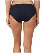 NWT $54  MICHAEL KORS  NAVY   SHIRRED  HIPSTER   SMALL    BOTTOMS  ONLY  *