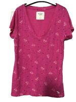 Abercrombie And Fitch Pink Women Short Sleeve T Shirt Size Large L (D46)