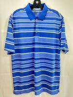 Nike Golf Tour Performance Medium DriFit Striped Polo Golf Shirt PreOwned