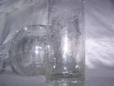 Craquelee Longdrink Glas und 2 Kugelvasen Crash Krinkle
