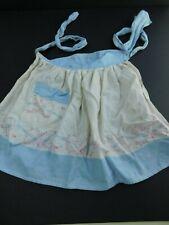 New listing Vintage Girl Child Apron 1950's Blue/White