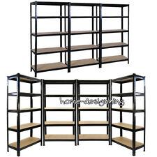 Metal Garage Shelving Unit Heavy Duty 5 Tier Shelf Steel Racking 1.8M Work Bench