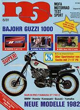 mo 8/81 1981 Panda TR 80 Yamaha XT 500 Zündapp KS 80 Yamaha FS Bajohr-Guzzi