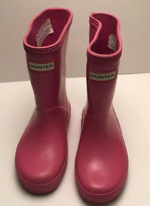 Hunter Girl's Pink Rain Boots Size (US 8 Youth; Excellent Used Condition