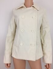 Gap size M white corduroy lined jacket button down long sleeved