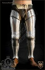 Anatomical leg Tempered spring Knight Medieval Armor steel Reenactment Armor leg